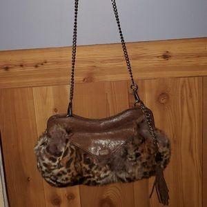 Olivia Harris Vintage RARE Rabbit Fur Bag